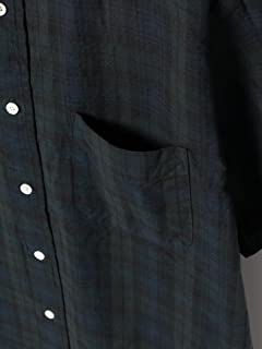 Short Sleeve Indigo Buttondown Shirt 11-01-0729-139: Black Watch
