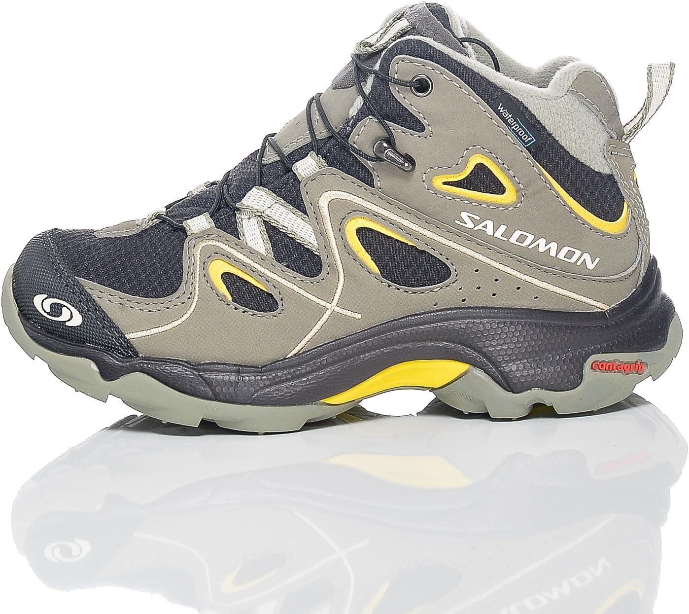 Salomon Trax Mid WP K - Zapatillas de running para niña negro black/black/autobahn talla única gris Asphalt/Dark Titanium/Primrose Talla:30: Amazon.es: Deportes y aire libre