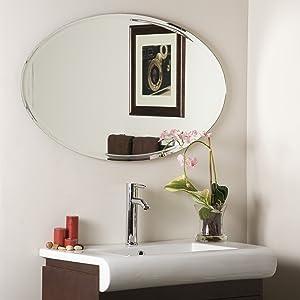 Decor Wonderland Oval Wall Mirror, X-Long