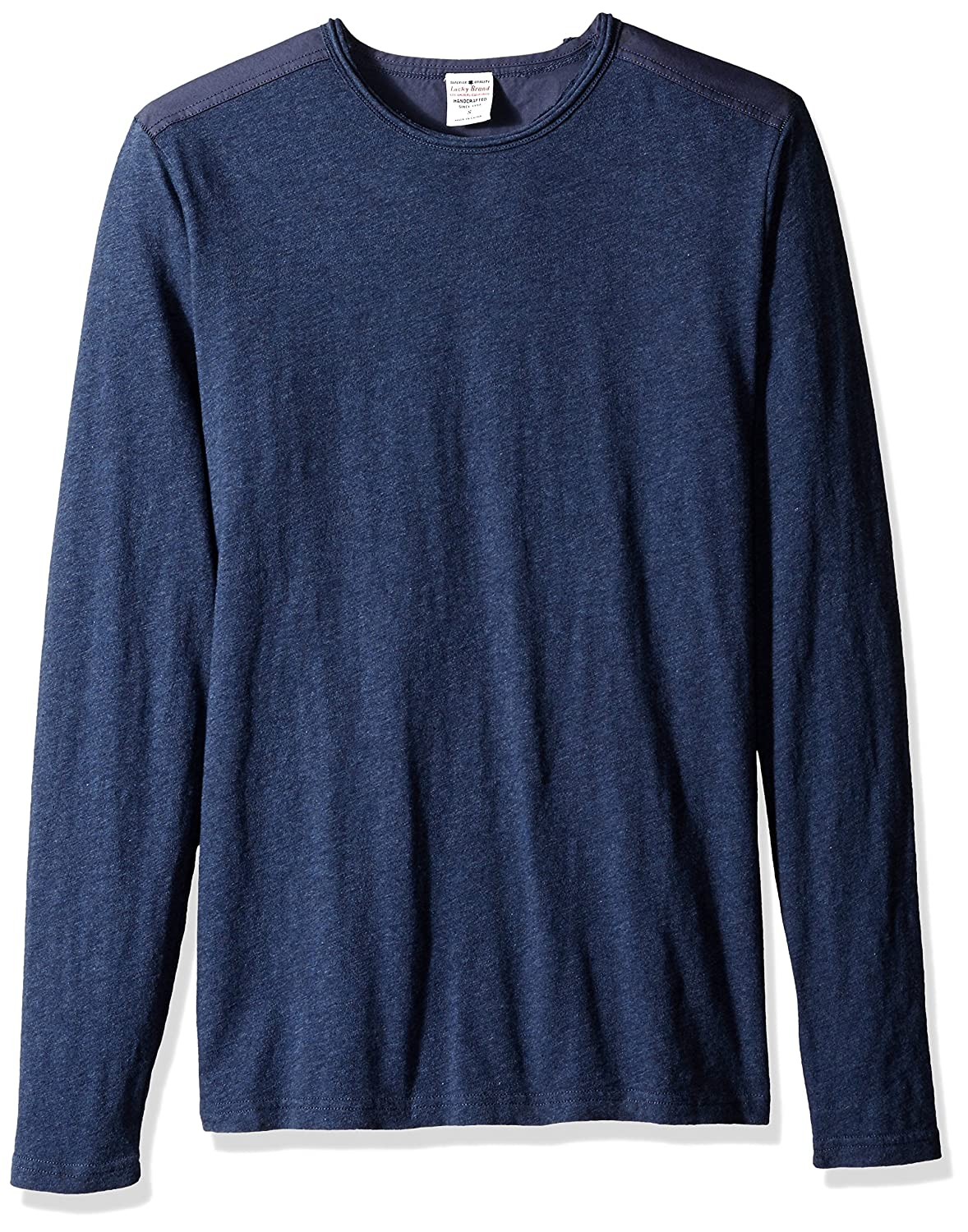Lucky Brand Mens Long Sleeve Crewneck in Navy Small Lucky Brand Men/'s Collection 7M61629