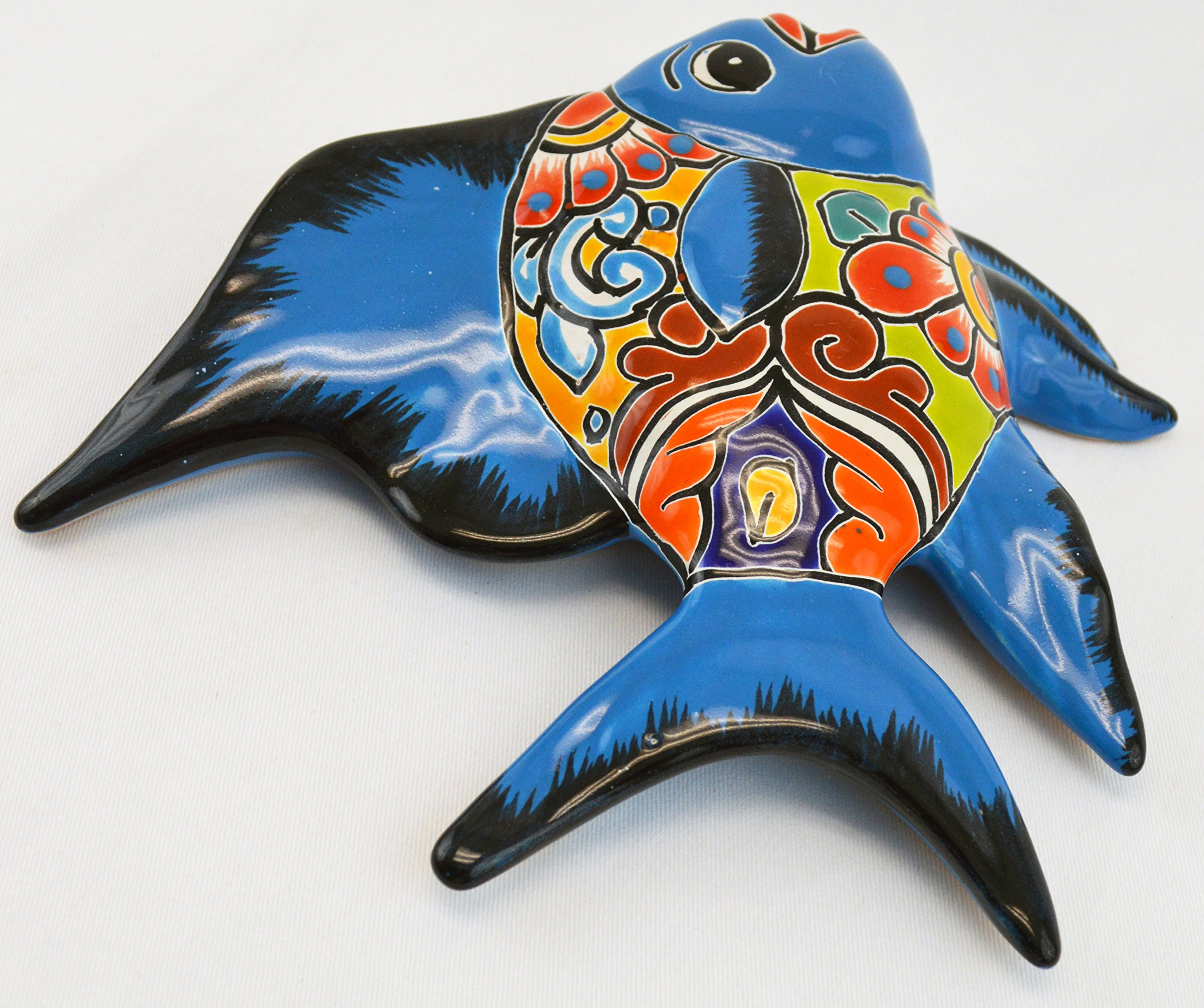 Avera Products Talavera Wall Angel Fish 8x11 Hand Painted Ceramic Garden Decor (Turquoise) by Avera Products (Image #3)