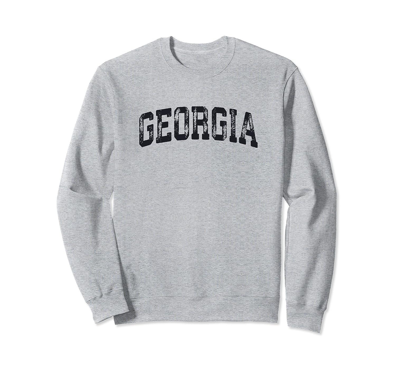 Vintage Georgia Crewneck Sweatshirt College Style Sports USA-alottee gift
