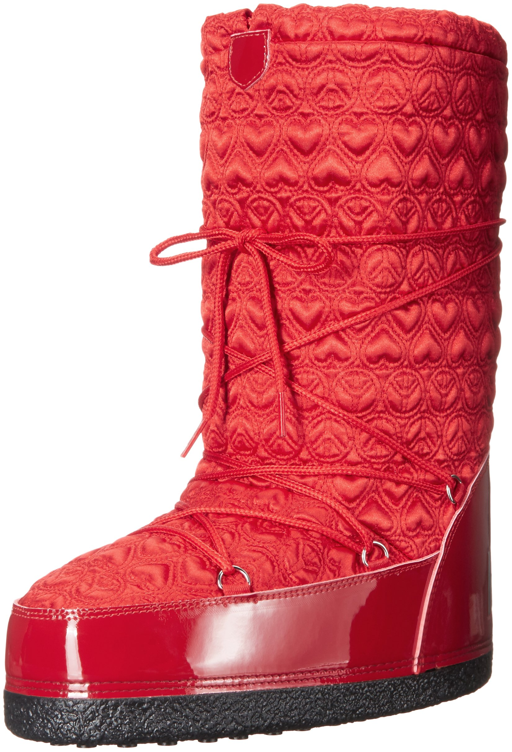 Love Moschino Women's Peace Moonboot Snow Boot, Red, 41 EU/11 M US
