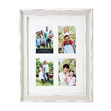 Amazon.com - Melannco 4 Opening Wood Grain Collage Frame, 4 x 6 ...