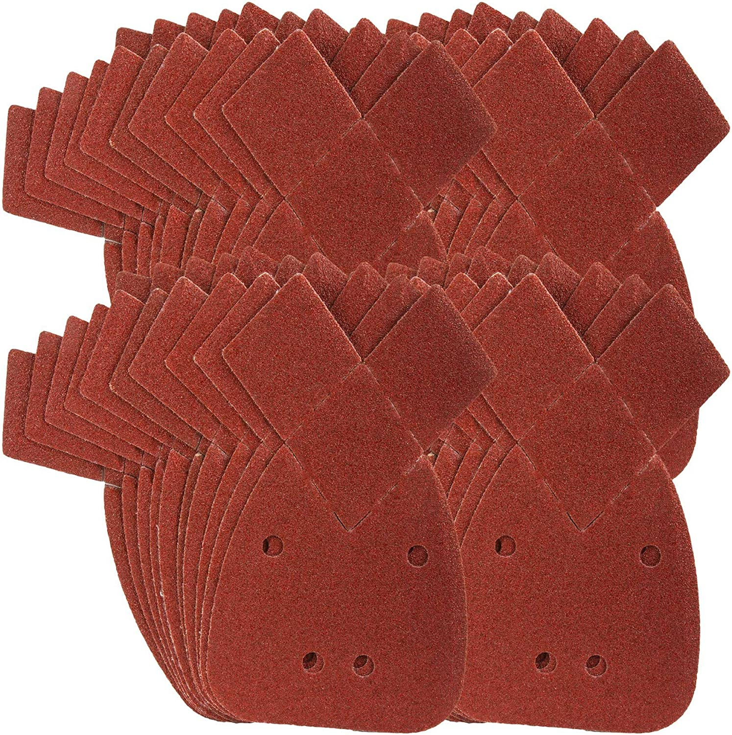 50 Pack Sanding Discs Pads Mouse Detail Sanding Paper Sheets Sandpaper with Extra 2 Tips for Replacement Hook and Loop Assorted 40//60// 80//120// 240 Grits to Fit Black and Decker Detail Palm Sander