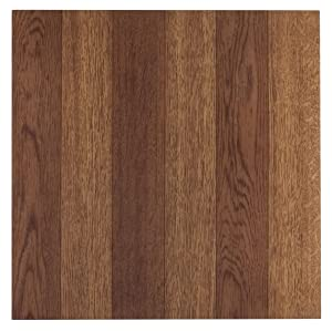 Achim Home Furnishings FTVWD22345 Tivoli Self Adhesive Vinyl Tiles, 12 x 12-Inches, Medium Oak, 45 Pack