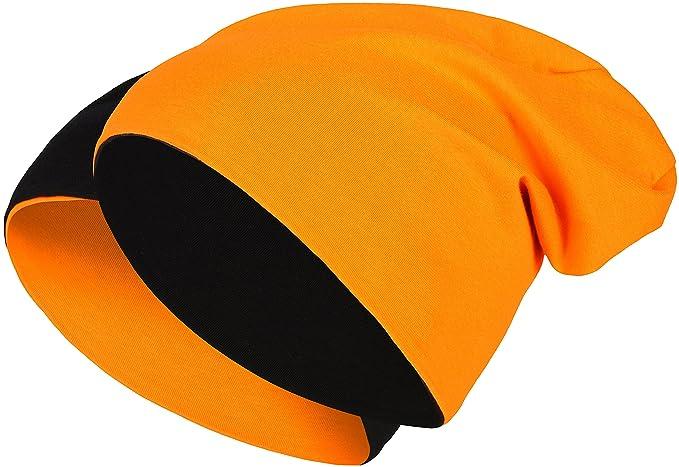 2 1 Berretto Reversibile - Reversibile Cappello floscio Beanie Lungo Jersey  di Cotone Elastico Unisex Uomo 81a79c7847fd