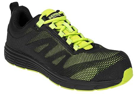 Bennon - Zapatillas de seguridad para hombre, ultra transpirables, ligeras, de seguridad,