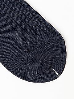Cotton Nylon Rib Socks 21-43-0064-377: Indigo