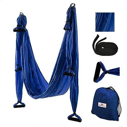 gravotonics Aerial Yoga columpios, azul marino: Amazon.es ...