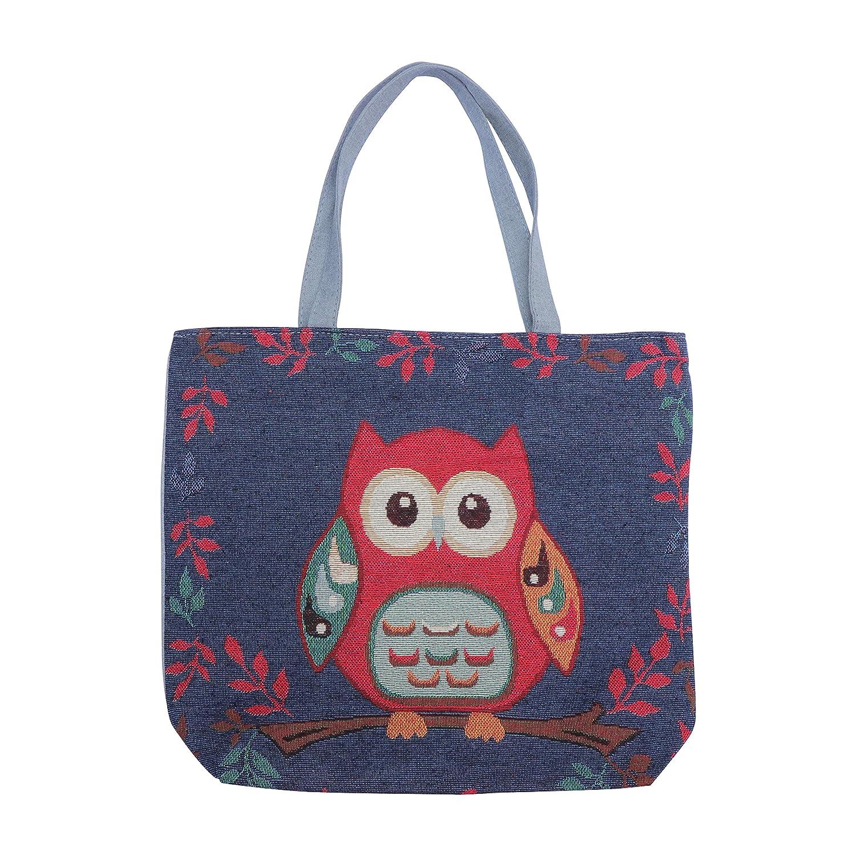 Cute Owls Reusable Grocery Shoppingショッピングバッグトートバッグ環境に優しいハンドルケースバッグ学校Large Shoulderバッグ再利用可能なポータブルストレージハンドバッグ便利なShoppers APPOOD-5458 B075WWM2GS  color_004