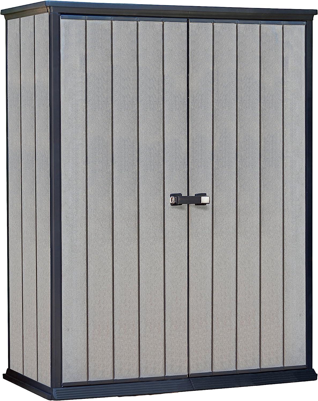 Keter - Cobertizo de jardín exterior Duotech Hight Store, Color gris, 140 x 77 x 181.5 cm / 1500 L