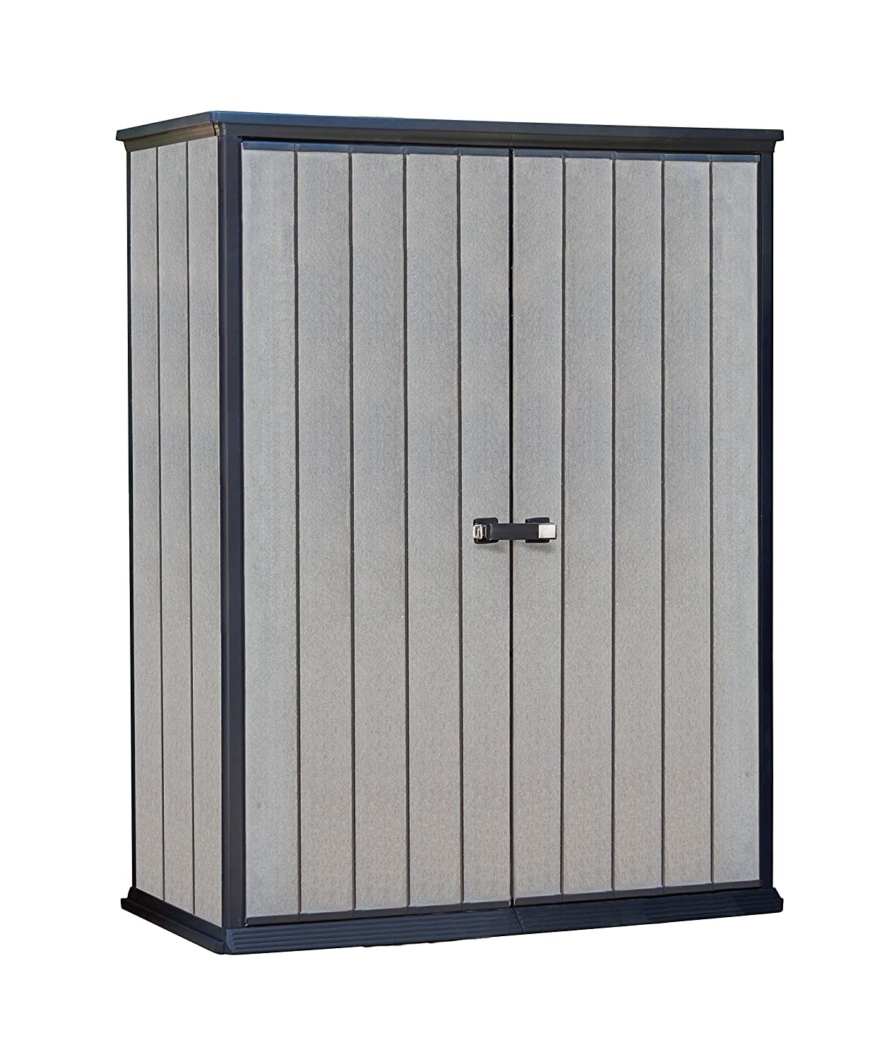 Amazon.com : Keter High Store 4.5 X 2.5 Vertical Outdoor Resin Storage Shed,  Grey : Garden U0026 Outdoor