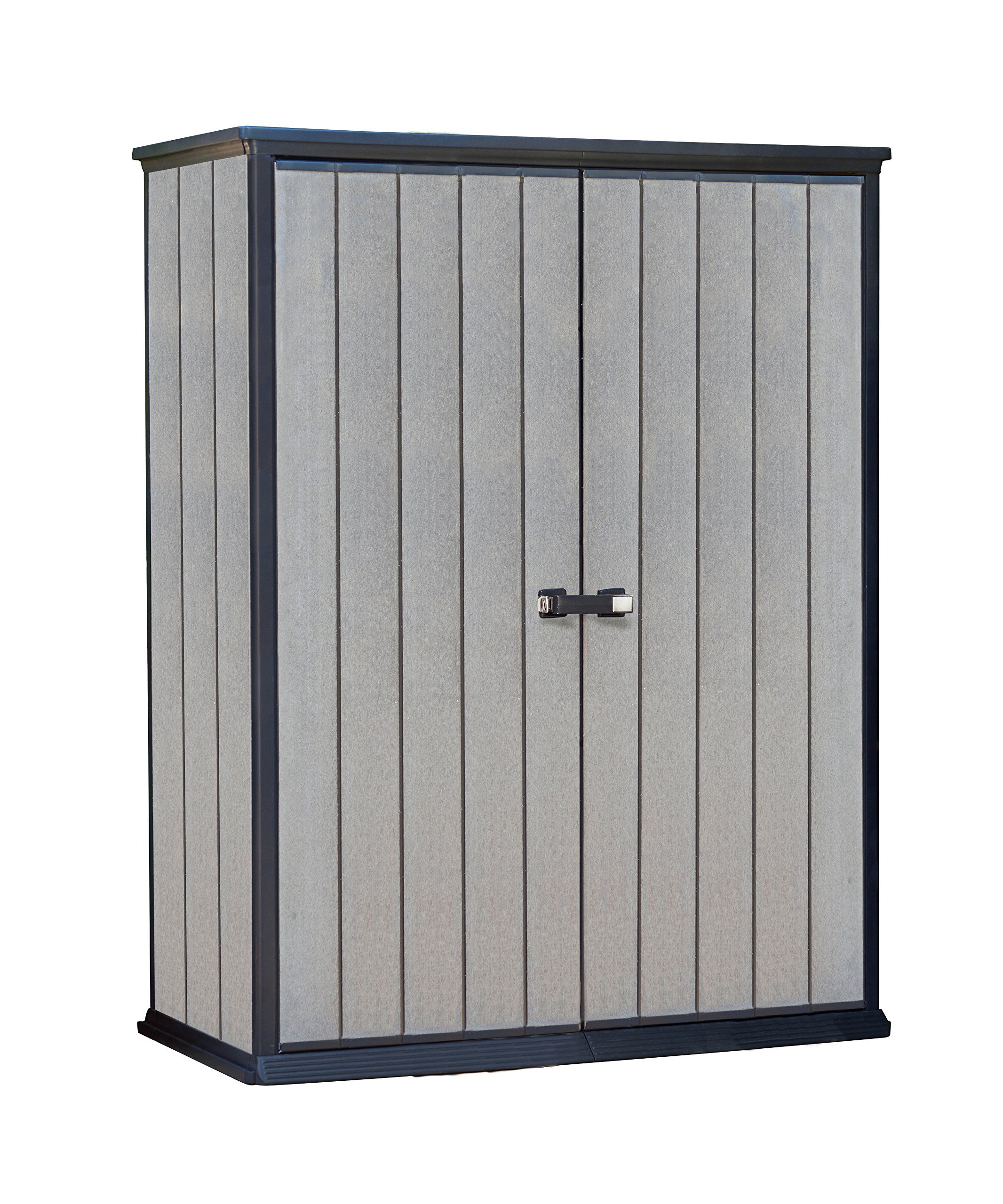 Keter High Store 4.5 x 2.5 Vertical Outdoor Resin Storage Shed, Grey by Keter