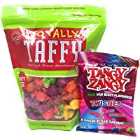 Totally Taffy Sour Fruit Flavor Assortment + Tangy Zangy Sour Wild Berry Twisties