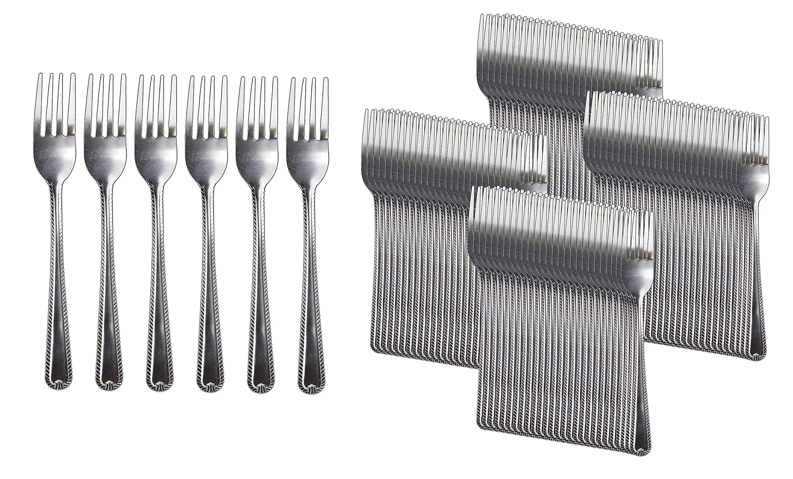 Handi-Ware Stainless Steel Cutlery - Multi-Pack Bulk - Tumble Finish - Commercial Use (120, Dinner Fork) by Handi-Ware (Image #1)
