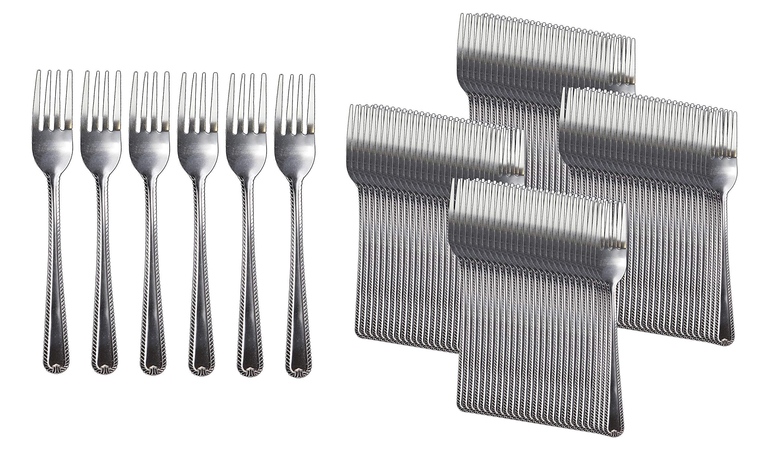 Handi-Ware Stainless Steel Cutlery - Multi-Pack Bulk - Tumble Finish - Commercial Use (120, Dinner Fork)