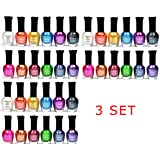 Kleancolor Nail Polish - Awesome Metallic Full Size Lacquer 3 Packs of 12-pc Set