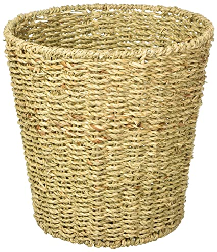 Beau Bu0026C Home Goods Waste Bin   Woven Waste Paper Basket For Bedroom, Kitchen,  Bathroom