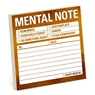 Knock Knock Mental Note Metallic Sticky Notes, 3 x 3-Inches (1-Count)