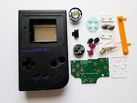amazon com black starter kit gameboy zero dmg 01 4 button pcb diy w