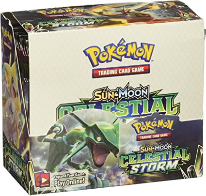 Amazon.com: Pokemon TCG: Tormenta celestial Sun & Moon 36 ...