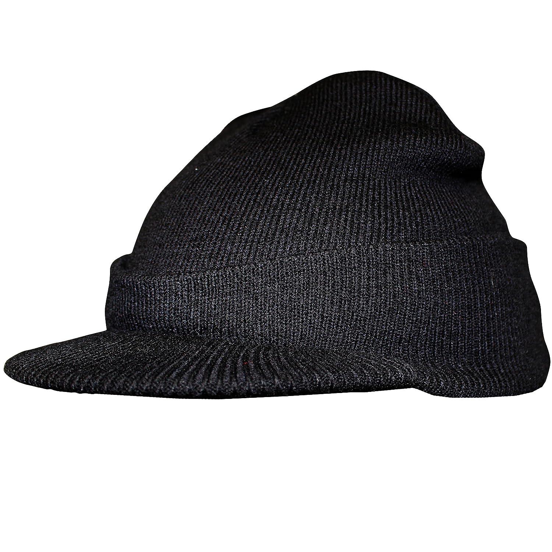 Knit Beanie Visor Hat - Scull Cap Style - Black  Amazon.ca  Home   Kitchen b0a7e767dc3