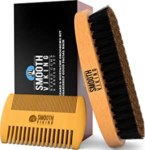 smooth viking comb and brush