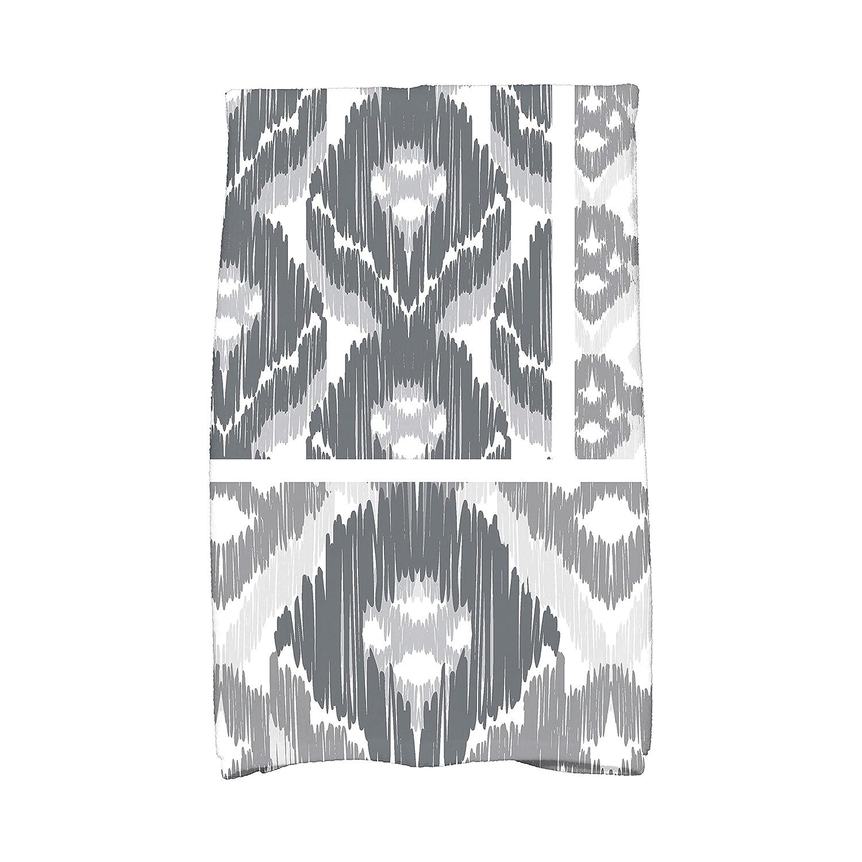 E by design KTGN541BL14 Free Spirit Geometric Print Kitchen Towel 16 x 25 Navy Blue