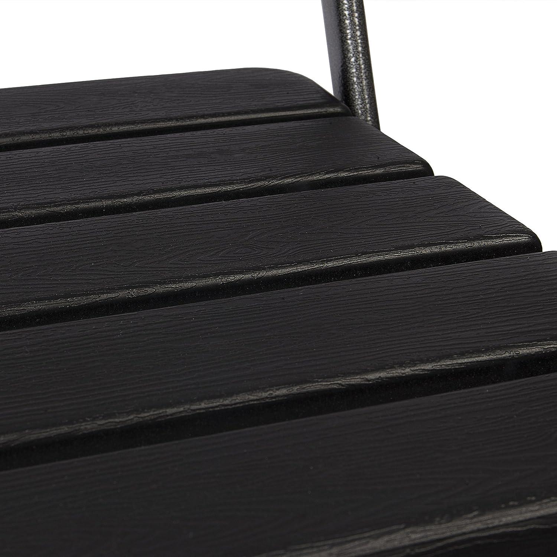 Colore Marrone Giardino o Balcone Sedia in Acciaio e Plastica HDPE Effetto Rattan Ideale per Esterni Park Alley Sedie da Giardino Set da 2