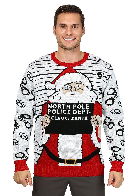 Fun Costumes Men's Free Santa Ugly Christmas Sweater Large