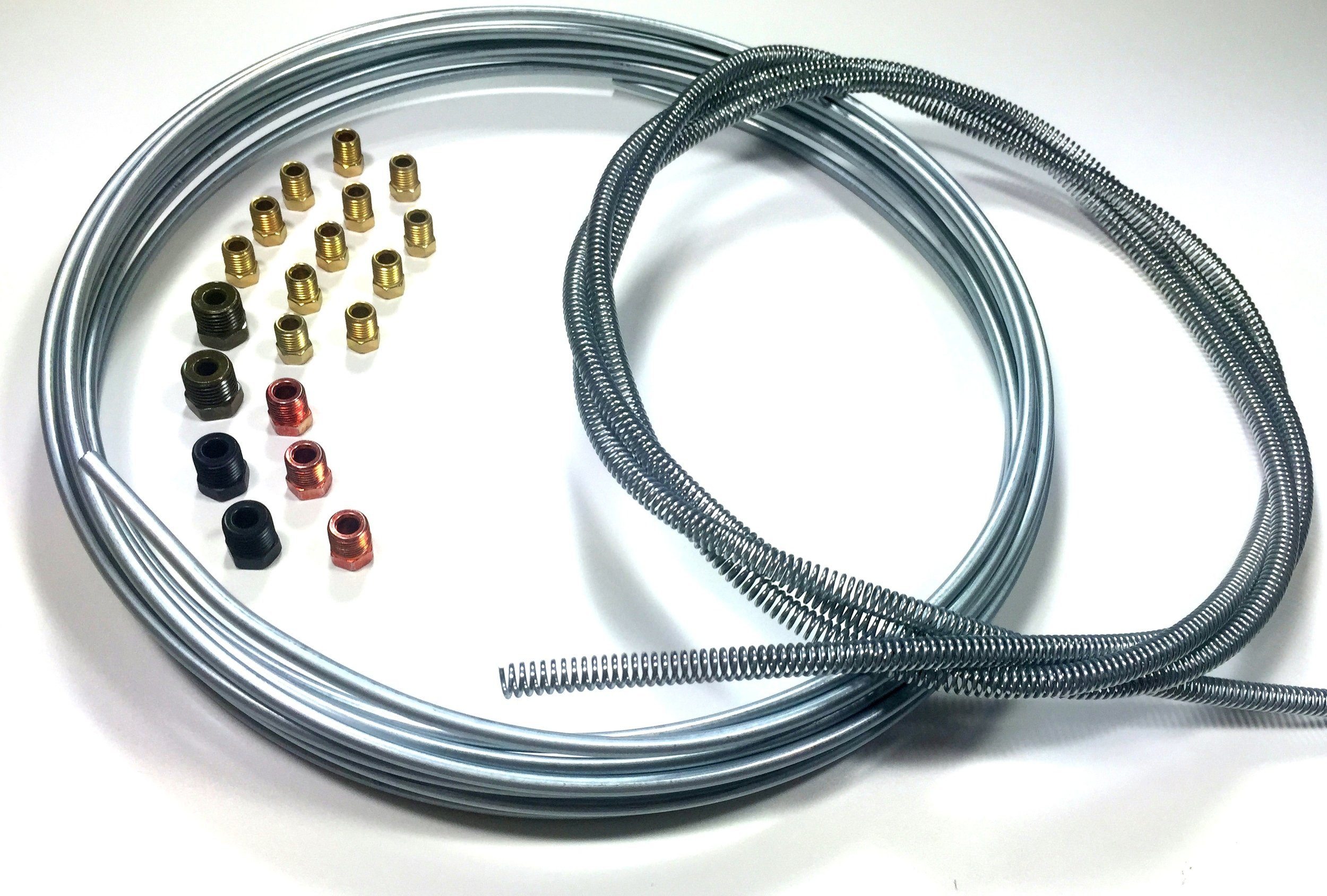 25 ft of 3/16 Brake Line Kit - Tube/8 ft of Armor/Fittings