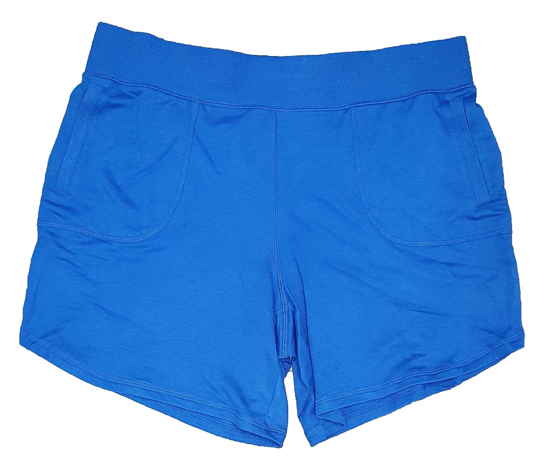 Terra & Sky Women's Plus Size Cobalt Crush Blue Generous Fit Knit Short