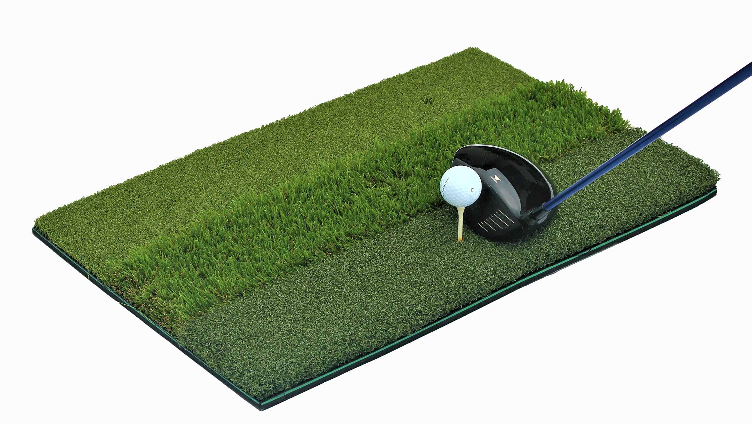 That'll Play - Premium Golf Tri-Turf Hitting Grass Mat - Rough & Fairway, Portable, Training Mat - Great Driving Mat for Backyard Practice and Training for Professional Swinging & Hitting