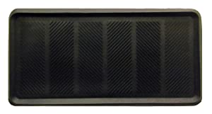 Iron Gate - Heavy Duty Big Foot Boot Tray Door Mat 16x32 - Indoor or Outdoor Use - Multi Purpose - 100% Rubber Construction - Entryway, Garage, Pets, Painting Projects, Clean Ups