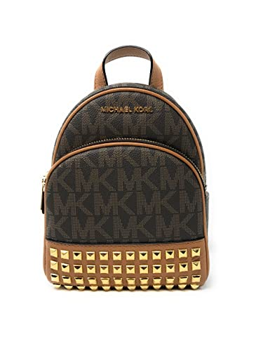 ... Michael Michael Kors Abbey Extra-Small Signature Studded Backpack  BrownAcorn ... 8645997ed2a4d