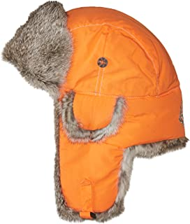 Mad Bomber Chocolate Brown Supplex Pilot Aviator Hat Real Rabbit Fur  Trapper Hunting Cap 5be120a956db