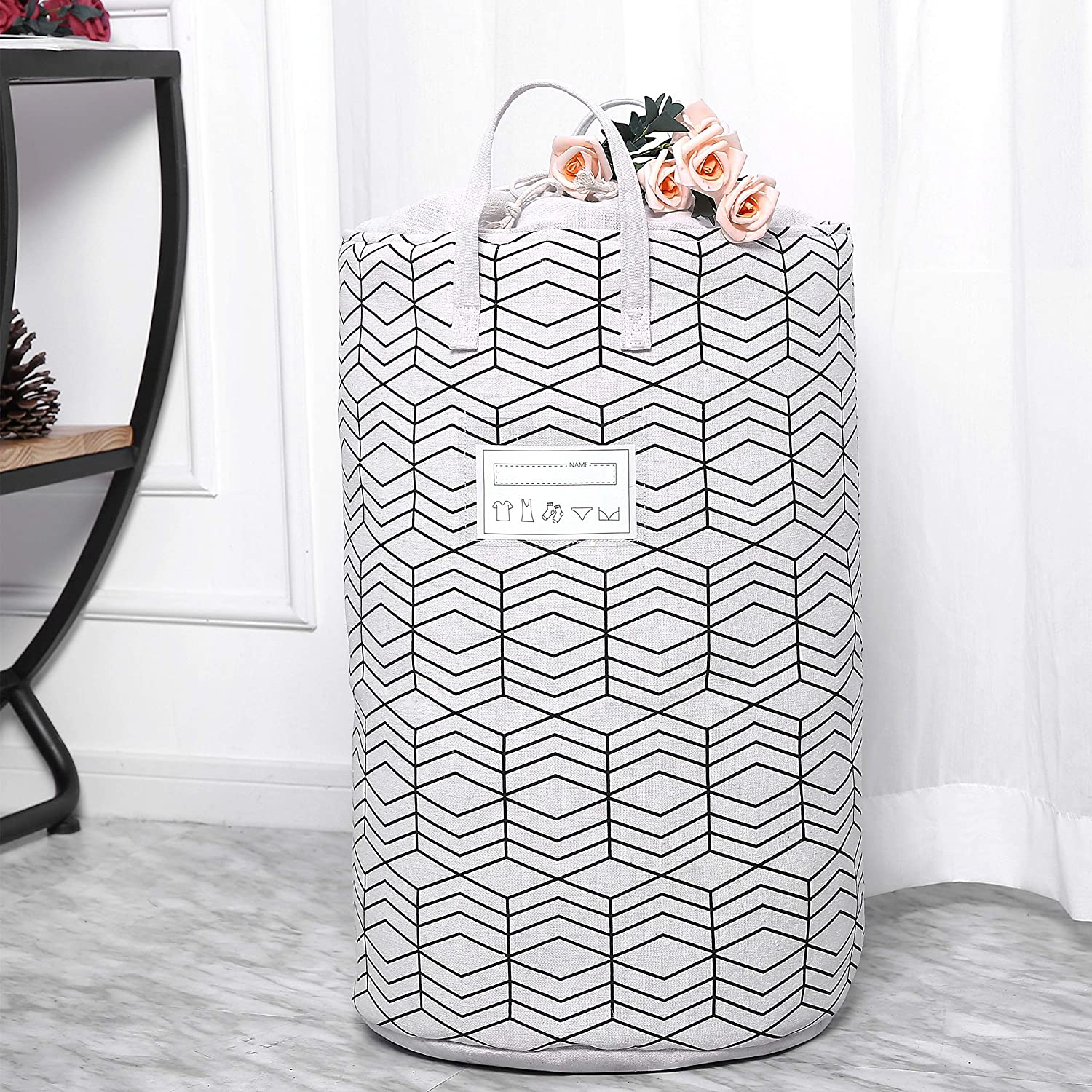 home decor ideas - cute laundry hamper with top closure
