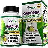 BEST Garcinia Cambogia 95% HCA Pure Extract 1500mg Maximum Potency Appetite Suppressant, Weight Loss & Fat Burning Diet Pills + Extreme Carb Blocker. Non - GMO Gluten Free Veggie Caps.