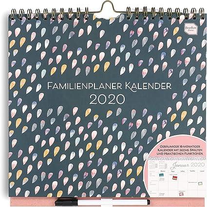 EN ALEMÁN) Boxclever Press 2019/2020 Familienplaner Kalender. Calendario de pared académico familiar. Planificador con semana vista y columnas para 6 personas. Empieza en agosto 19 - diciembre 20.: Amazon.es: Oficina y papelería