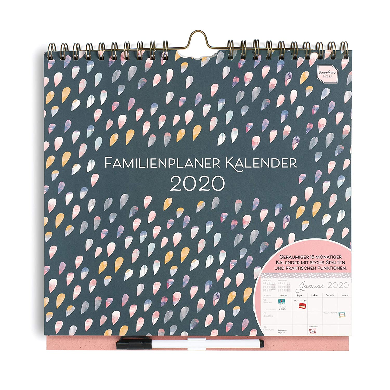 Calendario Tedesco 2020.In Tedesco Boxclever Press Familienplaner Kalender 2019
