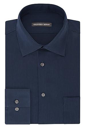 3d41f69faf Geoffrey Beene Men s Textured Sateen Fitted Solid Spread Collar Dress Shirt