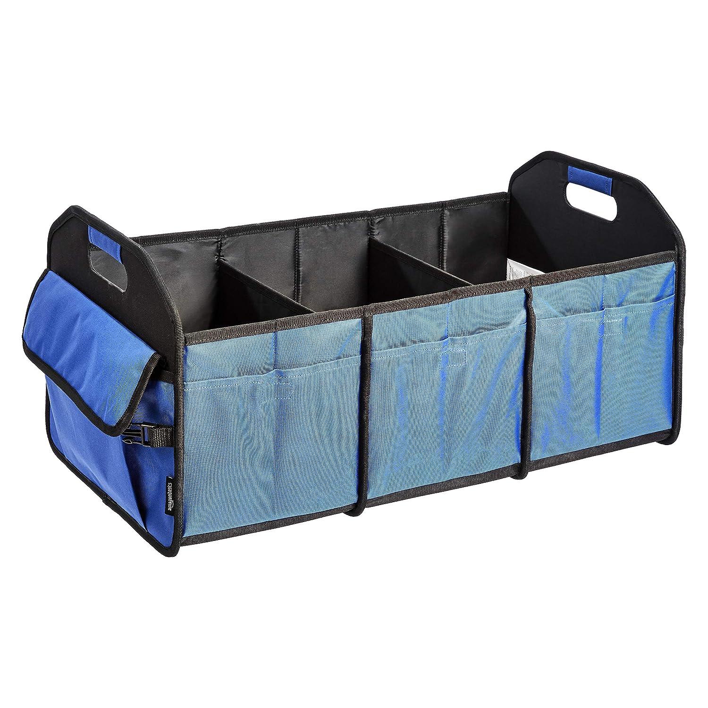 Basics Organizador de maletero plegable con asas de pl/ástico Gris