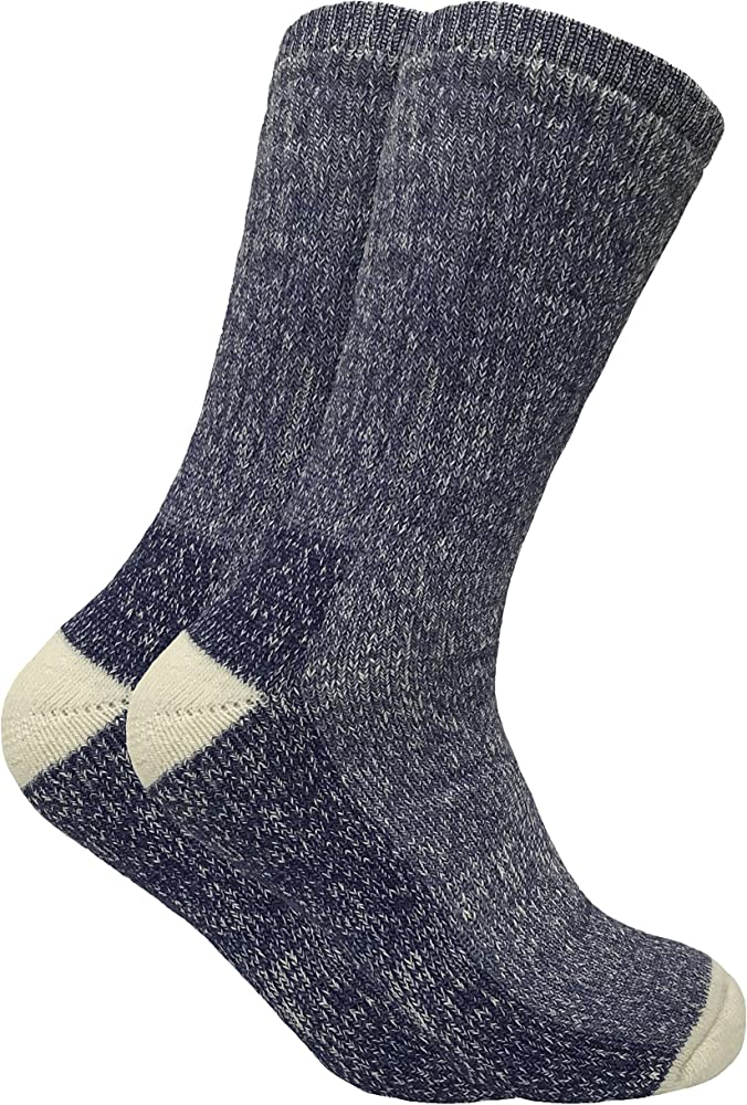 moins cher 82ccc 789a5 2 paires homme epaisse hiver chaudes laine chaussettes randonnée en 4  couleurs