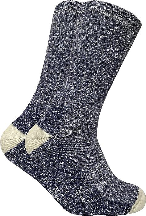 09e68fa50bf Sock Snob 2 paires homme epaisse hiver chaudes laine chaussettes randonnée  en 4 couleurs (39