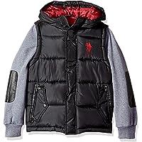 U.S. Polo Assn. Boys' Bubble Vest Jacket Fleece Sleeves