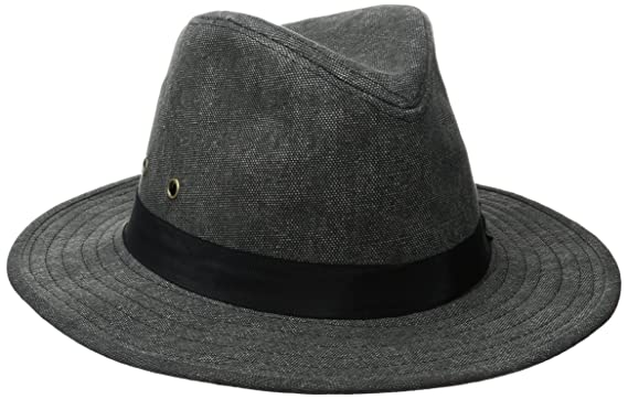 ale by alessandra Women s Skyler Adjustable Canvas Fedora Hat with UPF  50+ c51745e3e117