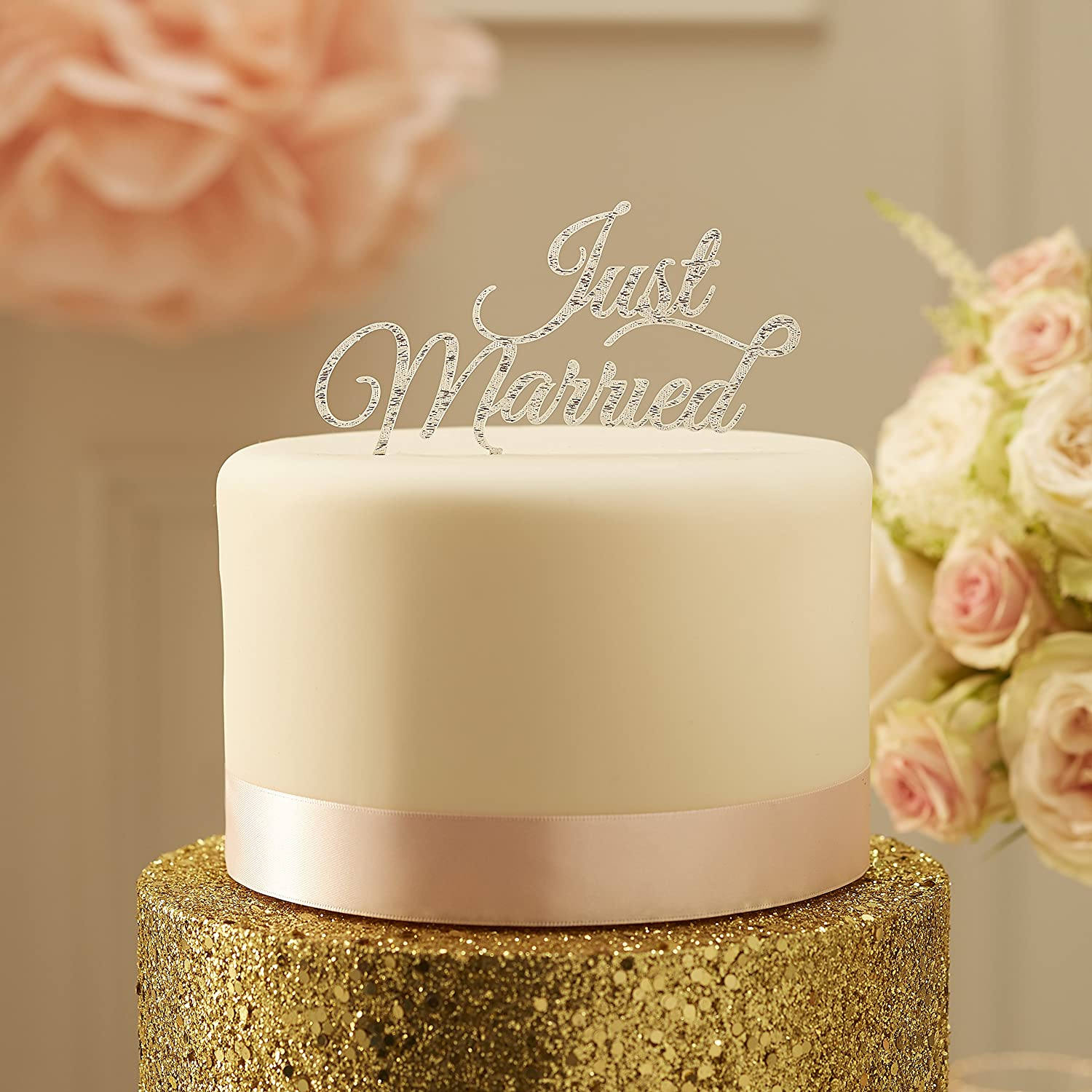 Amazon.com: Ginger Ray Pastel Perfection Just Married Wedding ...