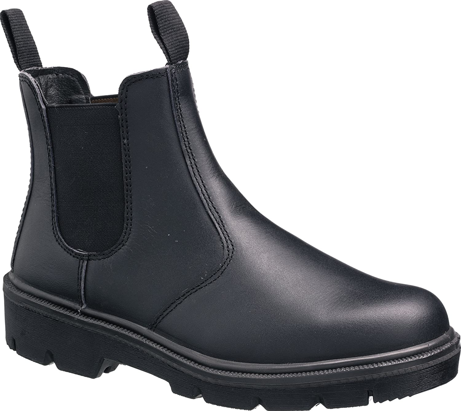 S3 Leather Dealer Chelsea Slip On Steel Toe Cap Midsole Safety Work Boots Shoes