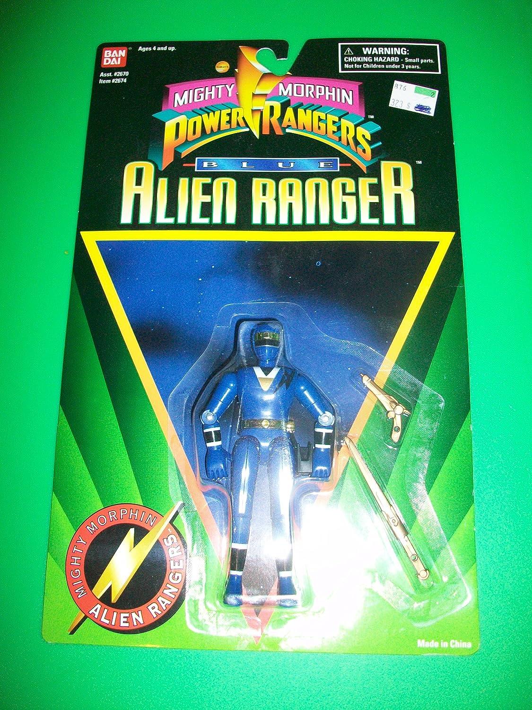 Power Rangers 1995 Blau Alien Ranger Action Figure MOSC MOC NEW